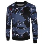 3D Abstract Camouflage Print Crew Neck Long Sleeve Sweatshirt
