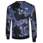 cheap 3D Abstract Camouflage Print Crew Neck Long Sleeve Sweatshirt