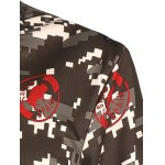 Seal and Camouflage Print Crew Neck Long Sleeve Sweatshirt for sale