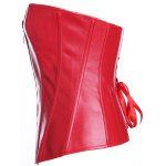 Zippered Faux Leather Lace-Up Corset deal