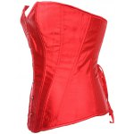 cheap Sheeny Buckle Lace-Up Corset