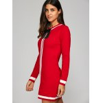 Bowknot Embellished Contrast Knitted Dress deal
