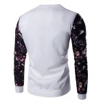 cheap Floral Sleeve Animal Embroidery Sweatshirt