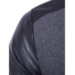 Stand Collar PU Leather Splicing Jacket for sale
