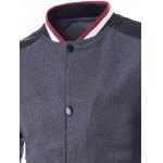 Stand Collar PU Leather Splicing Jacket deal