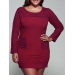 Plus Size Twin Pocket Lace Dress