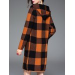 best Checked Hooded Cashmere Coat