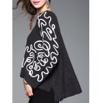 cheap Linellae Embroidered Furcal Asymmetric Knitwear