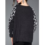 Linellae Embroidered Furcal Asymmetric Knitwear for sale