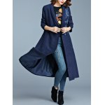 One Button Embroidered Pocket Design Coat deal