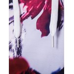 Floral Print Patchwork Design Pullover Hoodie for sale