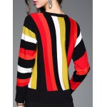 Stretchy Colorful Striped Knitwear for sale