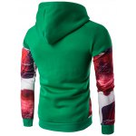 cheap Printed Patchwork Design Pullover Hoodie
