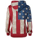 Buy Pullover American Flag Print Hoodie L COLORMIX