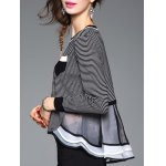 Striped Ruffled Patchwork Knitwear deal