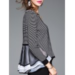 Striped Ruffled Patchwork Knitwear for sale