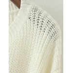 Side Lace Up Open Knit Sweater deal