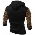 cheap Camouflage Splicing Long Sleeves Hoodie