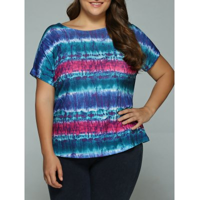 Scoop Neck Tie Dye T-Shirt