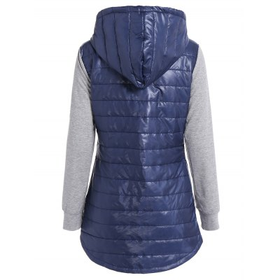 Hooded Padded JacketJackets &amp; Coats<br>Hooded Padded Jacket<br><br>Clothes Type: Padded<br>Material: Cotton Blends<br>Type: Slim<br>Clothing Length: Long<br>Sleeve Length: Full<br>Collar: Hooded<br>Closure Type: Zipper<br>Pattern Type: Solid<br>Embellishment: Pockets<br>Style: Casual<br>Season: Fall,Spring<br>Weight: 0.520kg<br>Package Contents: 1 x Jacket