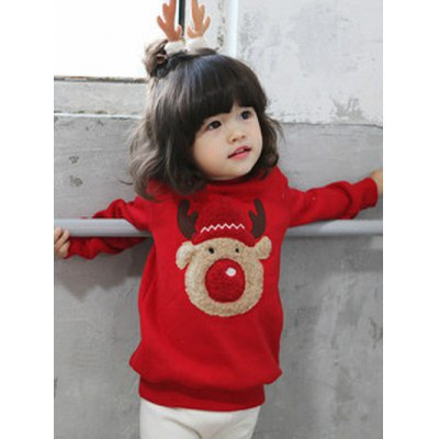 Kids Crew Neck Thicken Christmas SweatshirtGirls Clothing<br>Kids Crew Neck Thicken Christmas Sweatshirt<br><br>Type: Pullovers<br>Material: Polyester<br>Sleeve Length: Full<br>Collar: Crew Neck<br>Style: Casual<br>Weight: 0.216kg<br>Package Contents: 1 x Sweatshirt