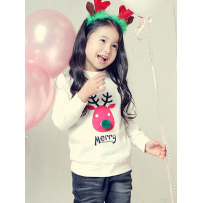 Kids Crew Neck Elk Print Christmas SweatshirtGirls Clothing<br>Kids Crew Neck Elk Print Christmas Sweatshirt<br><br>Type: Pullovers<br>Material: Polyester<br>Sleeve Length: Full<br>Collar: Crew Neck<br>Style: Fashion<br>Weight: 0.402kg<br>Package Contents: 1 x Sweatshirt
