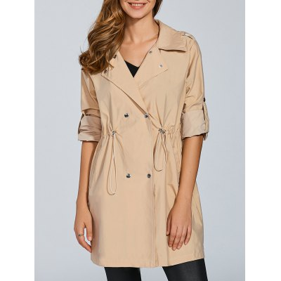 Double Breasted Overlayed Trench Coat