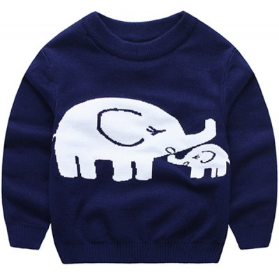 Elephant Cotton Blend Pullover Sweatshirt