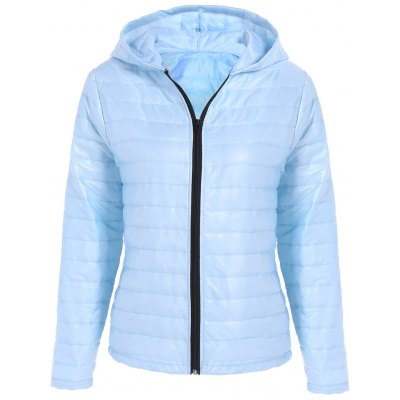 Quilted Winter Jacket with Hood