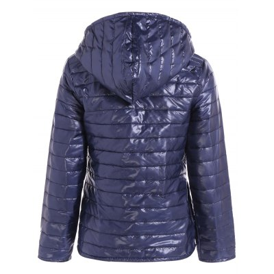 Hooded Quilted JacketJackets &amp; Coats<br>Hooded Quilted Jacket<br><br>Clothes Type: Padded<br>Material: Cotton Blends,Polyester<br>Type: Slim<br>Clothing Length: Regular<br>Sleeve Length: Full<br>Collar: Hooded<br>Closure Type: Zipper<br>Pattern Type: Solid<br>Embellishment: Pockets<br>Style: Casual<br>Season: Fall,Spring,Winter<br>Weight: 0.328kg<br>Package Contents: 1 x Jacket