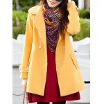 cheap Double Breasted Bowknot Pea Coat
