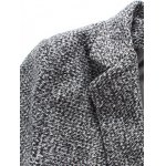 cheap Notch Lapel Sleeve Buttons Single Breasted Texture Coat