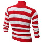 cheap Turtle Neck Long Sleeves Striped Sweater