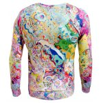 Long Sleeve Round Neck Abstract Printed Sweatshirt for sale