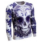 cheap Long Sleeve Round Neck Skull 3D Printed Sweatshirt