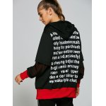 best Hooded Letter Print Zip Up Baseball Coat