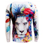Long Sleeve Crew Neck Animal 3D Printed Sweatshirt deal