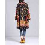 Loose-Fitting Ethnic Print Coat for sale