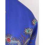 Chinese Dragon and Phoenix Print Padded Jacket deal