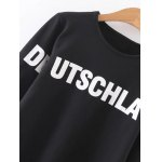 Text Print Graphic Pullover Sweatshirt deal