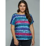 cheap Plus Size Tie-Dye T-Shirt