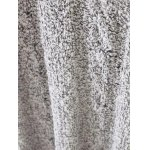 Marled Cable Knit Side Slit Long Sweater for sale
