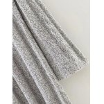 Marled Cable Knit Side Slit Long Sweater deal