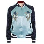 cheap Reversible Embroidered Bomber Jacket