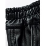 Zip Fly Straight Leg PU Pants for sale