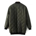 cheap Checked Quilted Jacket