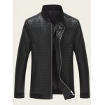 Striped Rib Insert Stand Collar Zip Up Jacket deal