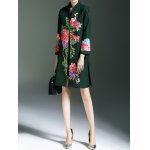 Frog Button Floral Embroidered Coat deal
