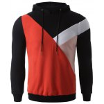 Color Splicing Pullover Hoodie