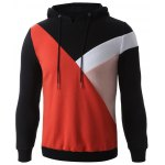 cheap Color Splicing Pullover Hoodie